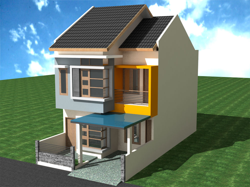 Desain Rumah Minimalis Modern Ukuran 5x12 Jual Bata Ekspos