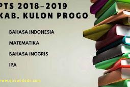 Hasil PTS 2 Tingkat SMP/MTs Kabupaten Bantul 2018/2019 Kelas 7