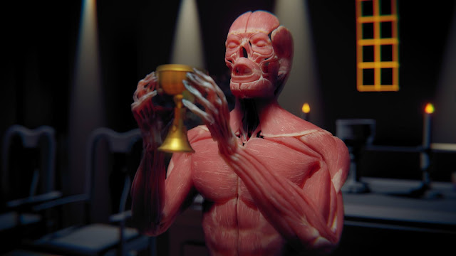 Image of digital man holding cup