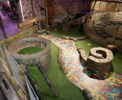 The Lost Valley Adventure Golf course at Amazonia in Bolton