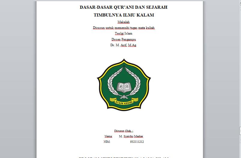 Contoh Makalah DASAR-DASAR QUR'ANI DAN SEJARAH TIMBULNYA ...