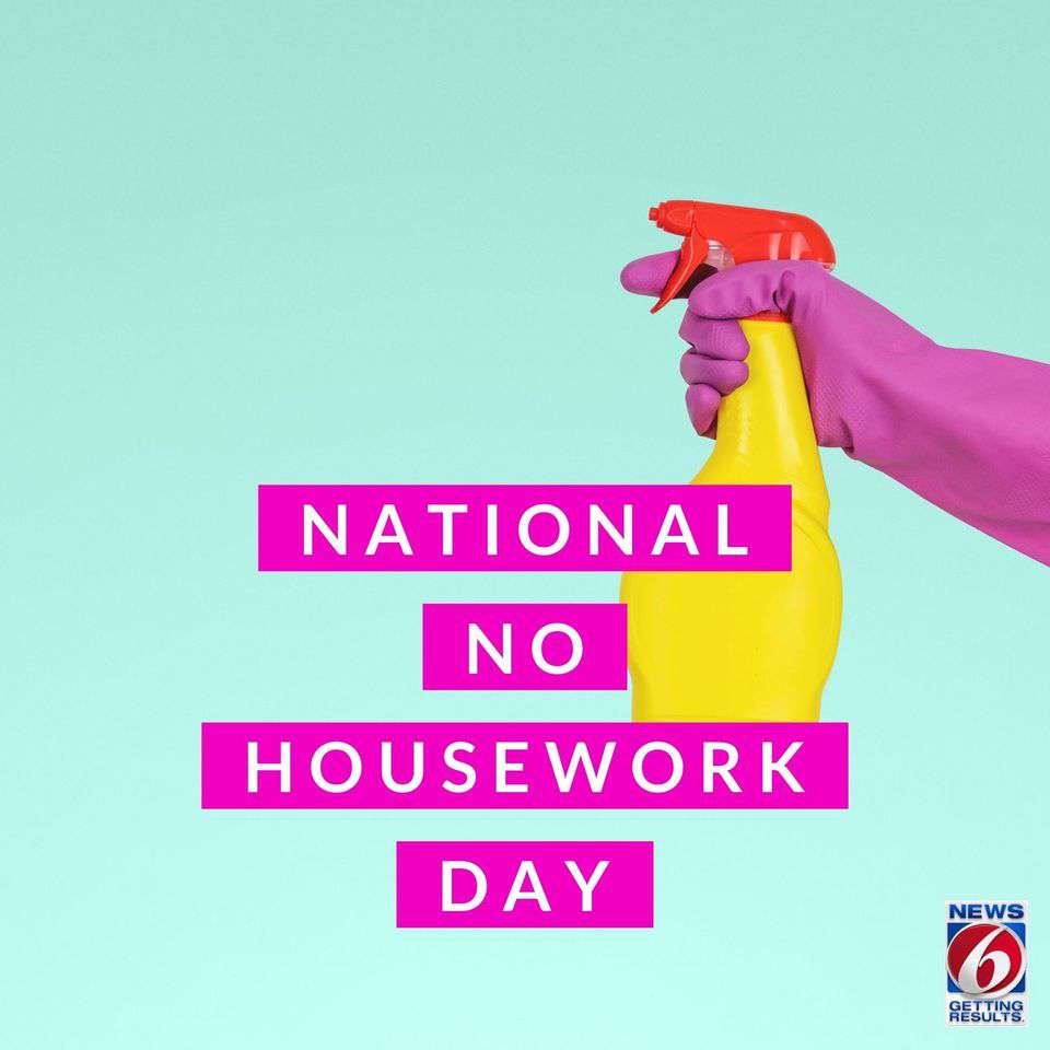 National No Housework Day Wishes Images