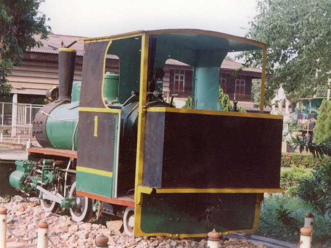 Старый паровоз в музеи