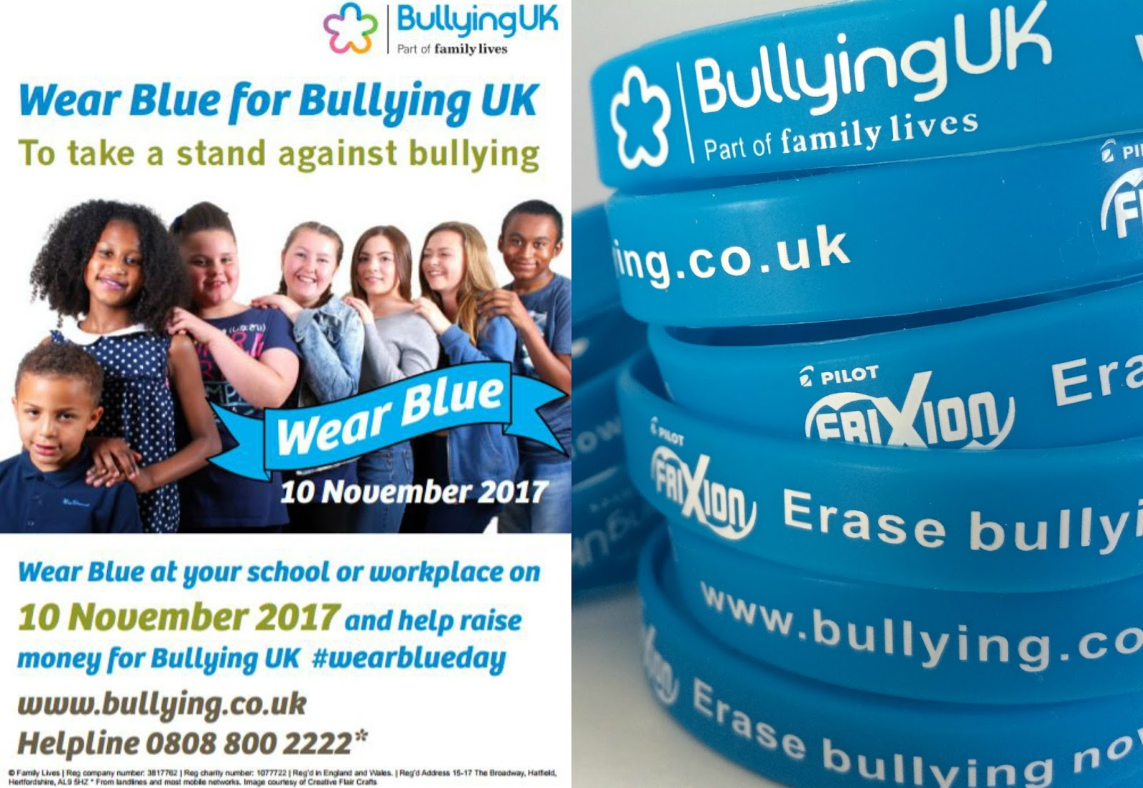 Wear Blue campaign for Bullying UK, bullying within Blogging