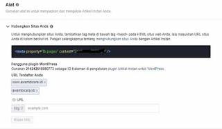 cara menulis dan contoh artikel instan Facebook