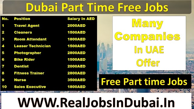 Part Time Jobs In Dubai | Dubai Careers | Dubai Jobs |