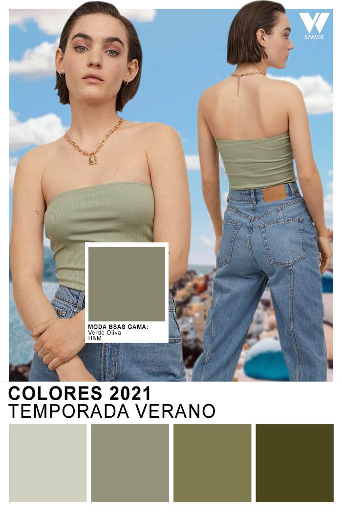 Moda colores 2021 primavera verano  Verde Oliva