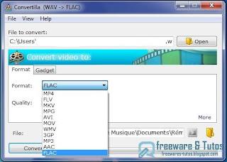 Convertilla : un logiciel gratuit de conversion audio et vidéo