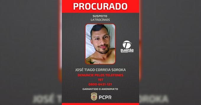 Policia Civil do Paraná divulga foto de suspeito de latrocínios contra homossexuais