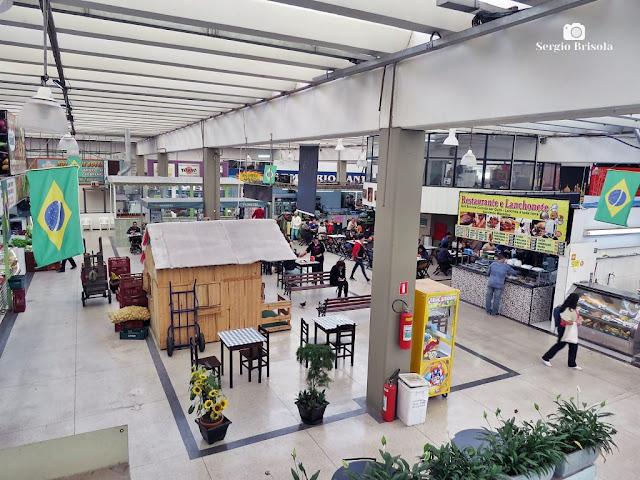 Vista do interior do tradicional Mercado Municipal do Ipiranga - São Paulo