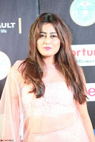 Nidhi Subbaiah Glamorous Pics in Transparent Peachy Gown at IIFA Utsavam Awards 2017  HD Exclusive Pics 16.JPG