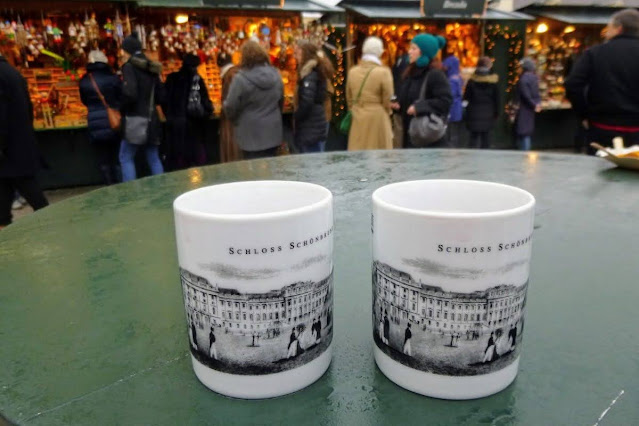 Vienna in winter: Mugs at the Schloss Schönbrunn Christmas Market