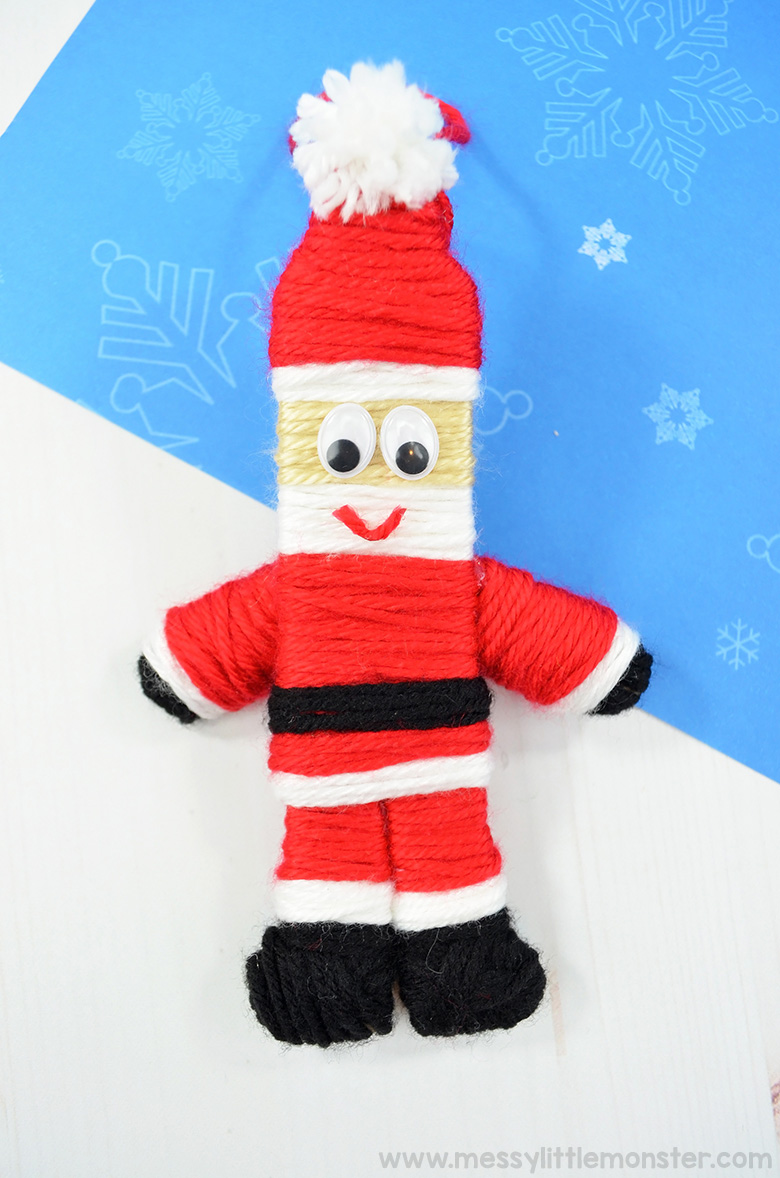 Santa ornament. Christmas crafts for kids