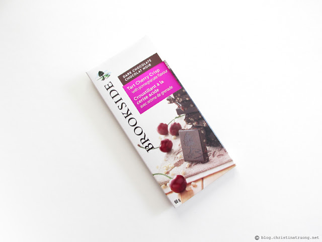 Brookside Chocolate Tablet Bars Review Tart Cherry Crisp with Pomegranate Flavour