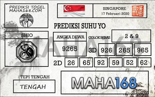 Prediksi Togel Singapura 17 Februari 2020 - prediksi suhu yo