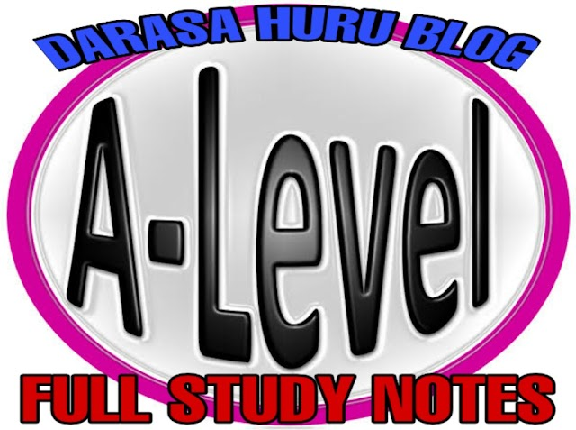 STUDY NOTES FOR ADVANCED LEVEL