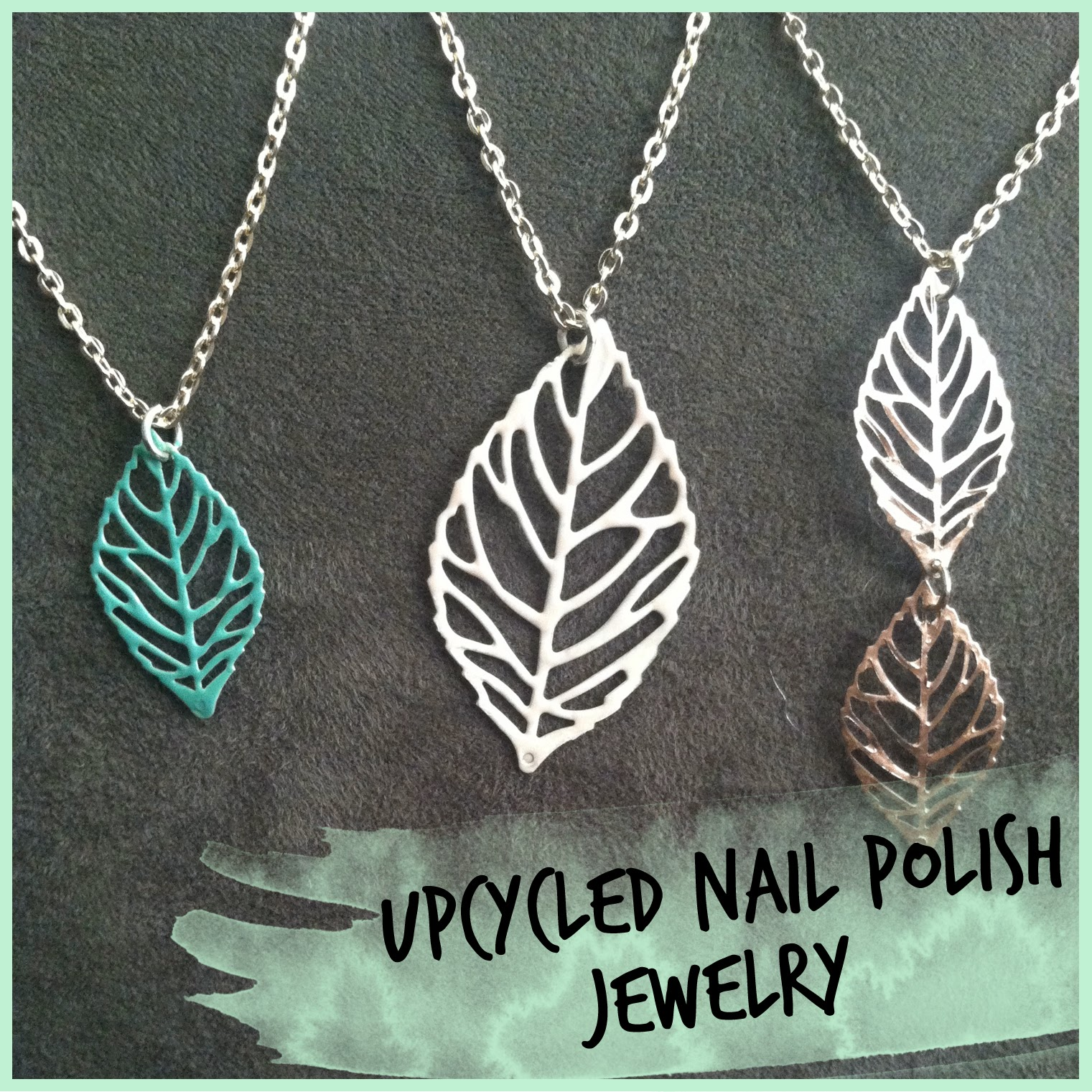 My Rolling Home: Upcycled nail polish jewelry