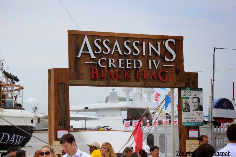 Sign over the entrance for the Assassin's Creed: Black Flag experience aboard the Star of India