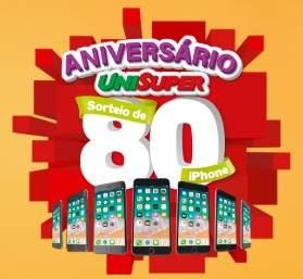 Cadastrar Promoção Unisuper Aniversário - 80 iPhones 8 64GB