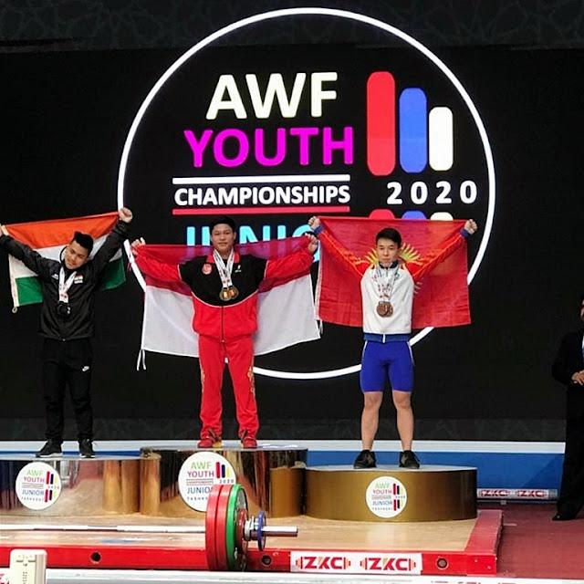 Mantap..! Lifter Yunior Indonesia ini Jadi Juara Asia