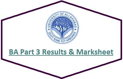 Allahabad University BA Part 3 Results 2020