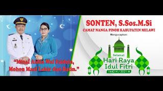 Camat Nanga Pinoh SONTEN,S.Sos Beserta Keluarga Mengucapkan Selamat Hari Raya Idul Fitri 1442 H/2021 M.   Minal Aidin Walfaidzin Mohon Maaf Lahir dan Batin.