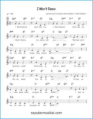 I Won't Dance 1 chords jazz standar