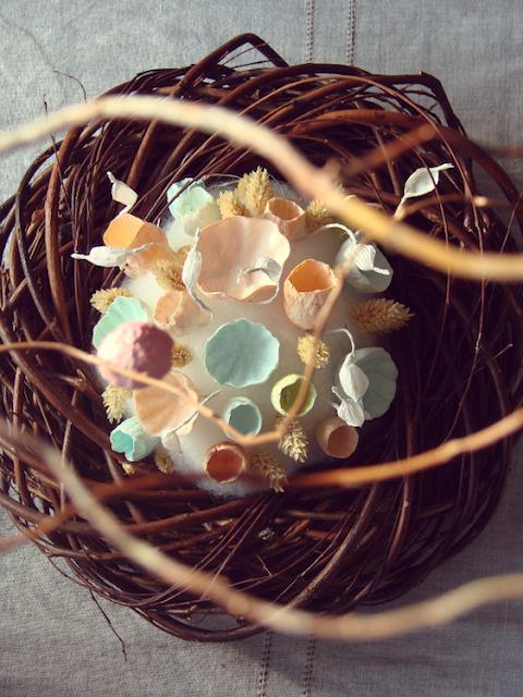 centrotavola nido in stile boho , ad Abilmente Primavera