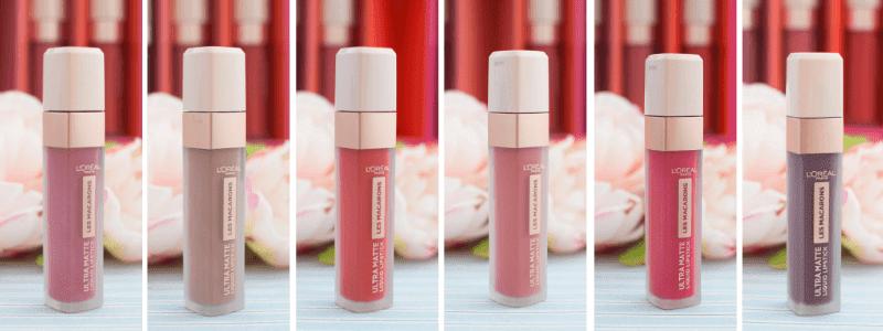 Test L´Oréal Paris Ultra Matte Les Macarons Lippenstifte