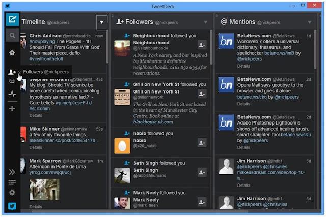 برنامج, إدارة, حسابات, تويتر, متعددة, على, الكمبيوتر, في, وقت, واحد, TweetDeck