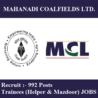 Mahanadi Coalfields Limited, MCL, MCL Odisha, MCL Odisha Answer Key, Answer Key, mcl odisha logo