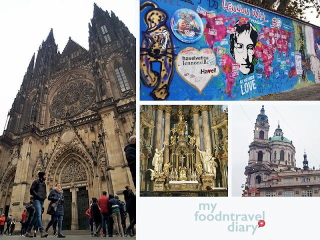 布拉格城堡、约翰蓝侬墙和圣尼古拉教堂