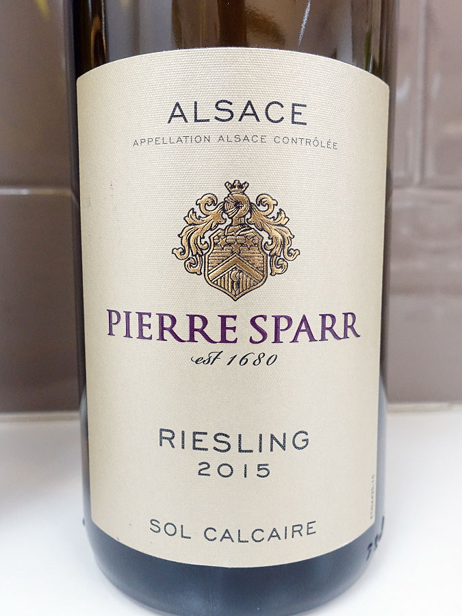 Pierre Sparr Sol Calcaire Riesling 2015 (89 pts)