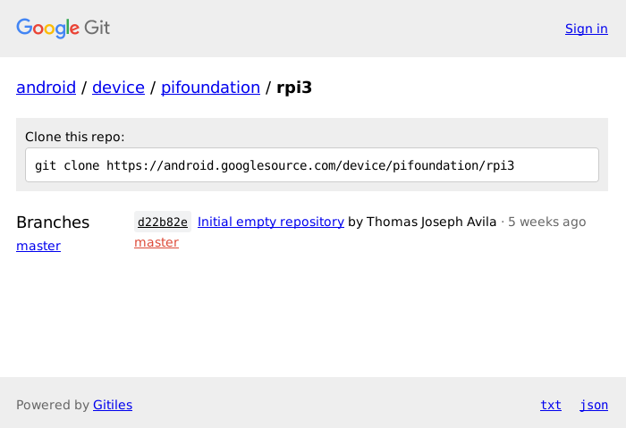 repositorio google rpi3