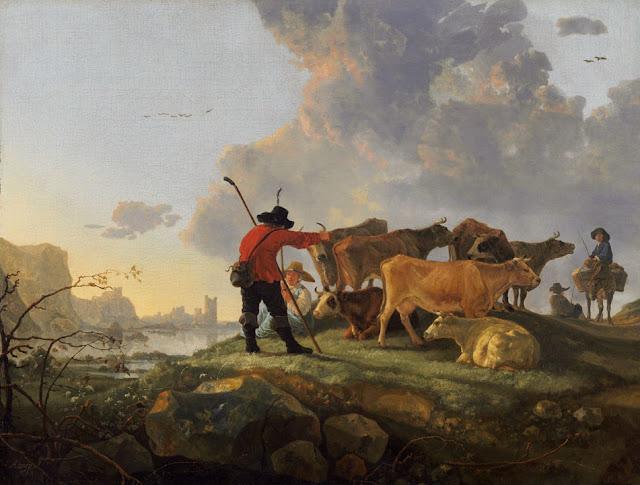 Альберт Кёйп - Пастух, ведущий стадо. 1655-60