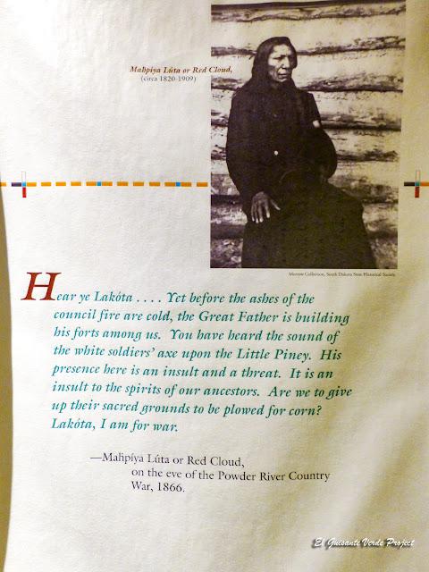 Nube Roja, abogando por la Guerra - Akta Lakota Museum