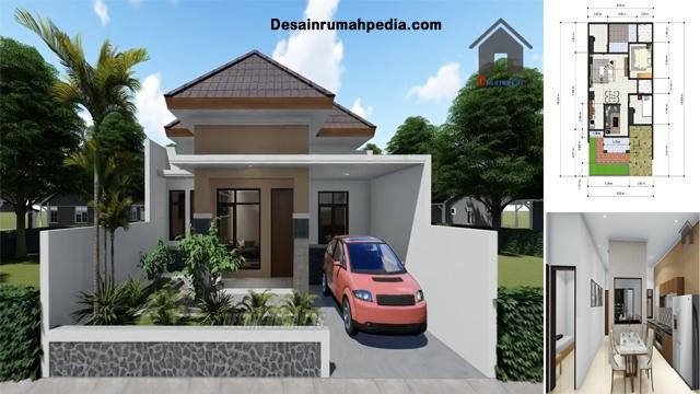 Desain Dan Denah Rumah Ukuran 8 X 15 Meter Terdapat 3 Kamar Tidur Cocok Untuk Keluarga Di Desa Dan Di Kota Desainrumahpedia Com Inspirasi Desain Rumah Minimalis Modern