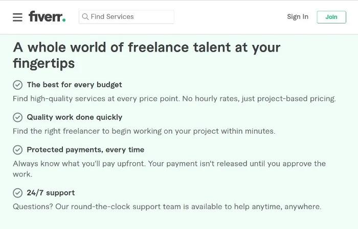 Freelance Jobs At Fiverr