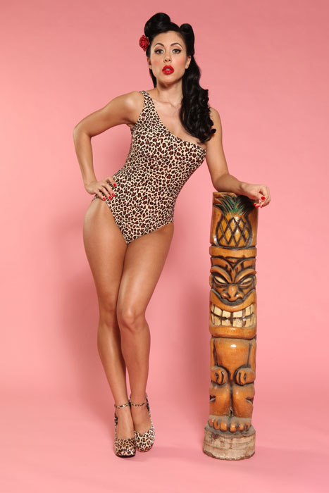 Bettie Page Leopard Single Strap Suit We Found The Inspiration For This On Elizabeth Taylor And