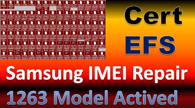 Samsung Cert+EFS IMEI Repair File 1263 item Model File Qcn Bin Free Download By Jonaki TelecoM