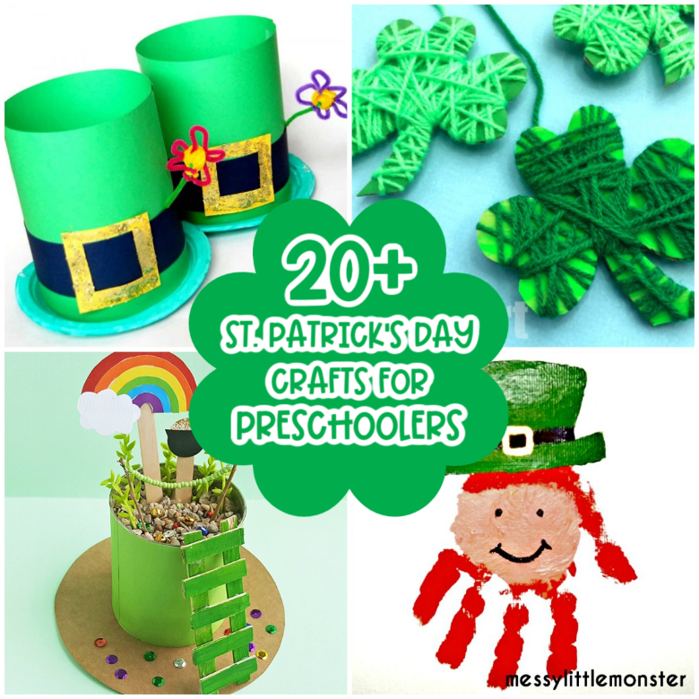 St Patrick's Day crafts for preschoolers.