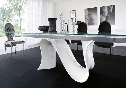 ideias para decorar Decoração com mesa de vidro 2013