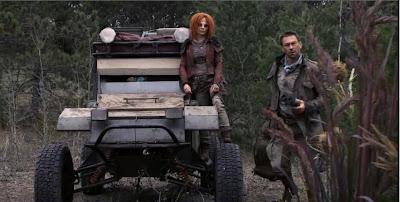 Defiance recaps Irisa Stephanie Leonidas Nolan Grant Bowler roller jeep screencaps pictures battle
