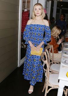Skyler Samuels in Blue Long Dress