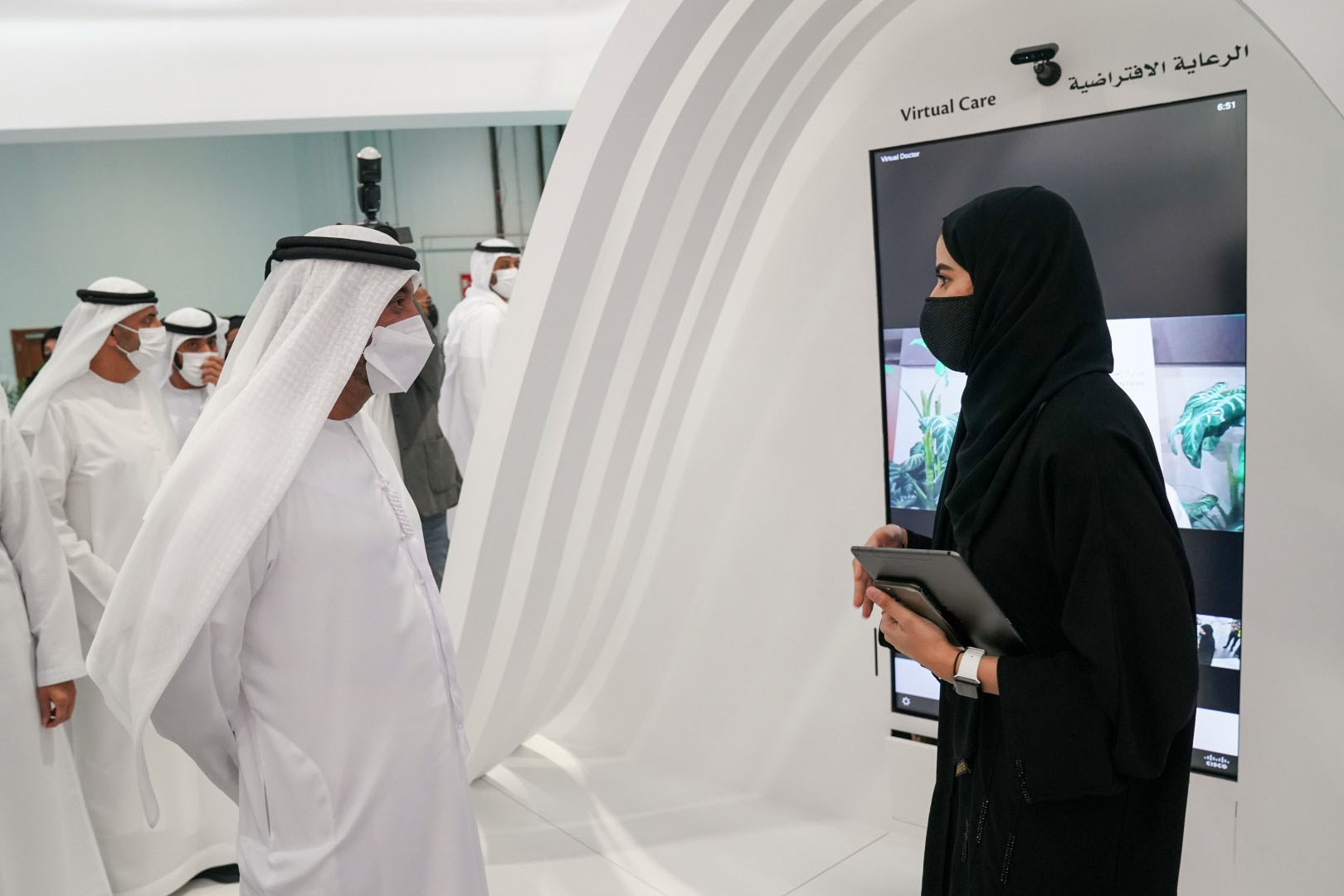 Sheikh Ahmed opens in-person Arab Health