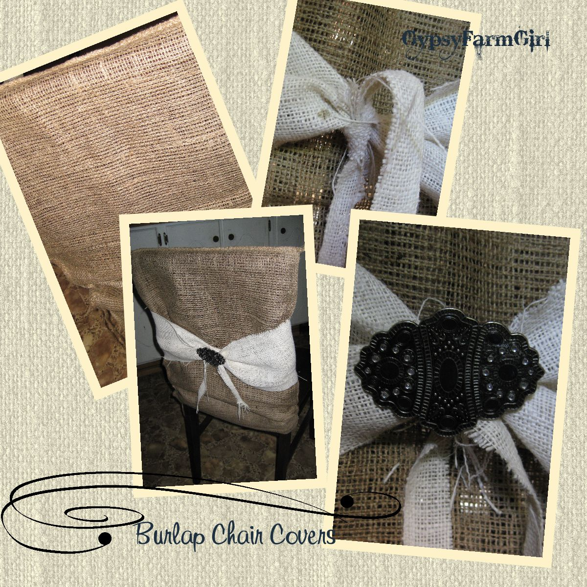 burlap chair covers for folding chairs metal armchair gypsyfarmgirl and beltbuckle