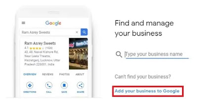 Google My Business Guide: Pointing Add your business to Google option