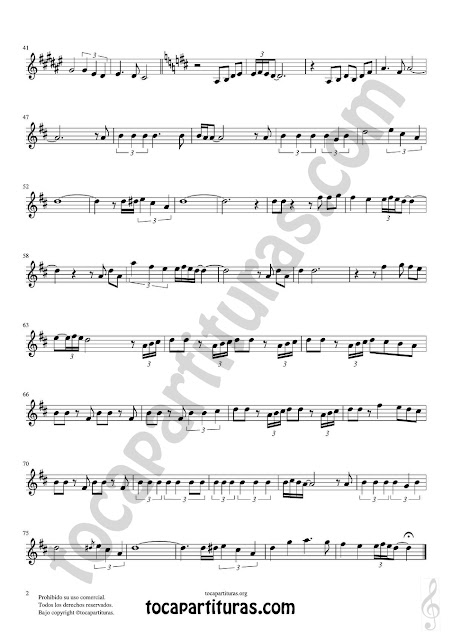 Hoja 2 de 2  Clarinete Partitura de Yo le seguiré (I will follow him) Sheet Music for Clarinet Music Score