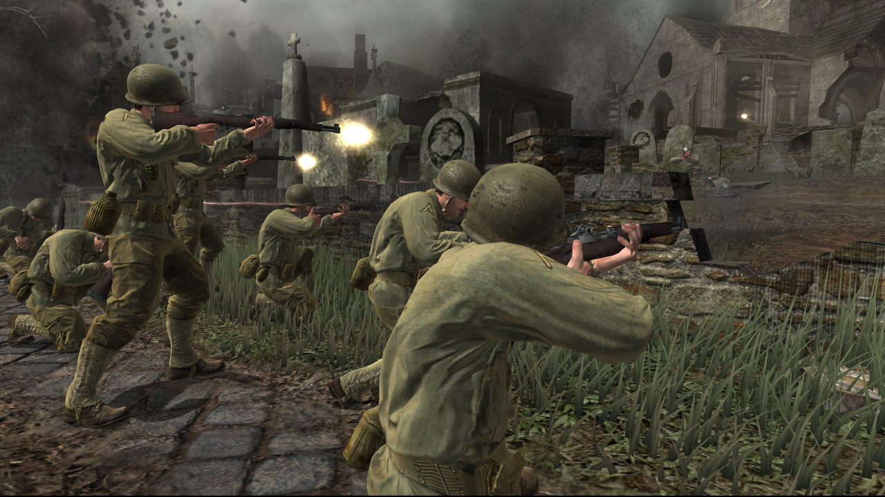 Call of Duty 2 PC Game Wallpapers and Game-play Screenshots !
