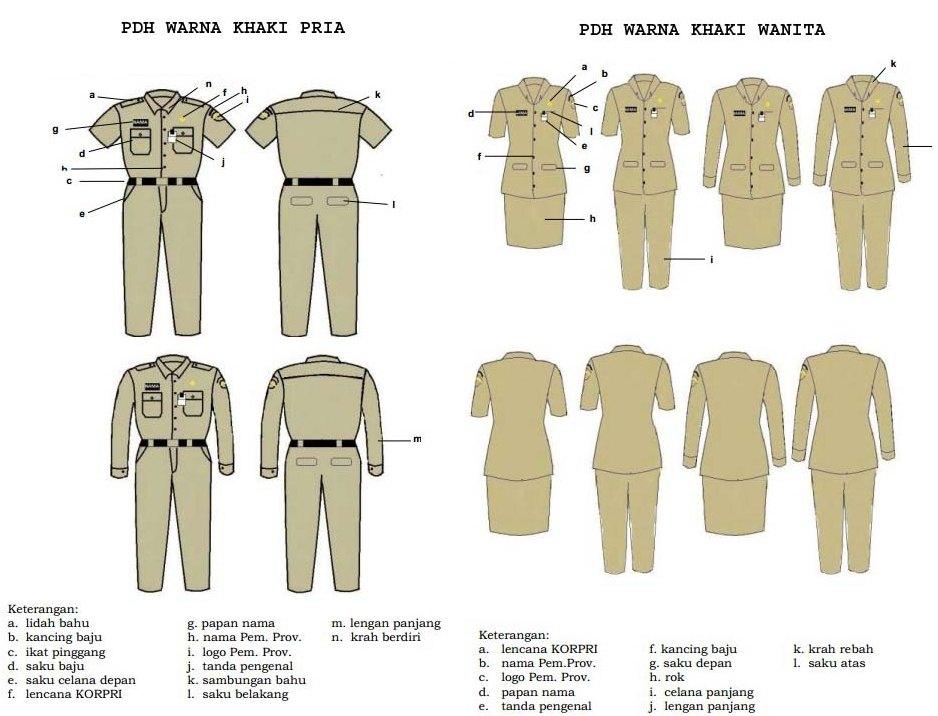 Perbedaan Pakaian Pdl Dan Pdh Pengadaan Eprocurement